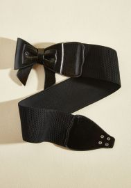 Banned Bow, Baby! Belt in Black at ModCloth