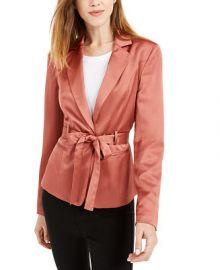 Bar III Belted Satin Blazer  Created for Macy s   Reviews - Jackets   Blazers - Women - Macy s at Macys