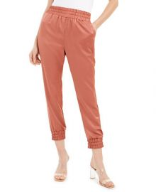Bar III Satin Jogger Pants  Created For Macy s   Reviews - Pants   Leggings - Women - Macy s at Macys