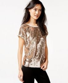 Bar III Sequined Top Only at Macys at Macys