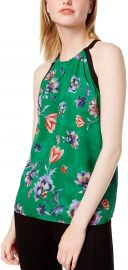 Bar III Women s Floral Printed Sleeveless Top at Amazon
