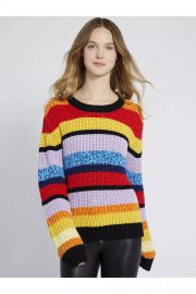Barb Multi Stripe Pullover at Alice + Olivia