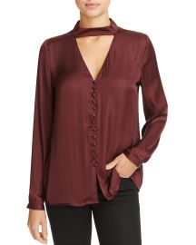 Bardot Cutout Satin Blouse  at Bloomingdales