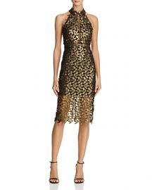 Bardot Gemma Metallic Lace Dress  at Bloomingdales