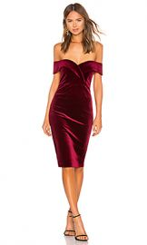 Bardot Bella Velvet Dress in Cabernet from Revolve com at Revolve