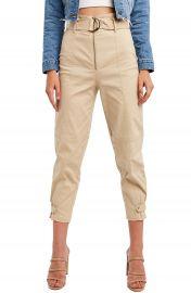 Bardot Belted Crop Pants   Nordstrom at Nordstrom