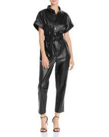Bardot Belted Faux Leather Boilersuit Women - Bloomingdale s at Bloomingdales