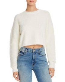 Bardot Cropped Fluffy Sweater Women - Bloomingdale s at Bloomingdales
