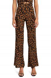 Bardot Leopard Flare Pants   Nordstrom at Nordstrom