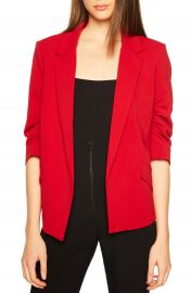 Bardot Ruched Sleeve Blazer at Nordstrom