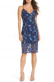 Bardot Sapphire Lace Pencil Dress at Nordstrom