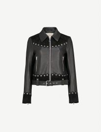 Barisco embellished leather jacket at Selfridges
