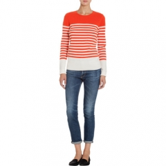 Barneys New York Striped Crewneck Sweater at Barneys