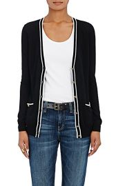 Barneys New York Tipped Cashmere Cardigan at Barneys Warehouse