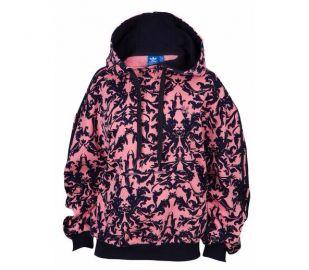 Baroque Hoodie by Adidas in Pink at Footlocker