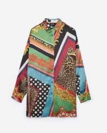 Baroque Printed Silk Shirt by The Kooples at The Kooples