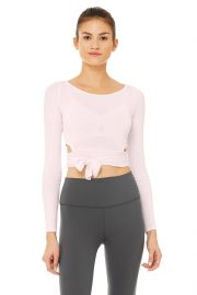 Barre Long Sleeve Top in Soft Pink  at Alo Yoga