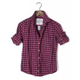 Barry shirt in pink and navy at Frank & Eileen