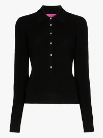 Basel Swarovski Button Polo Top by Gauge81 at Browns
