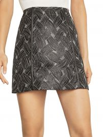 Basket Weave Jacquard Mini Skirt at Saks Off 5th