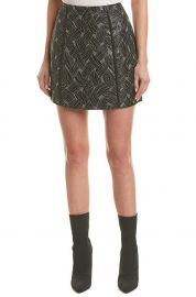 Basket Weave Jacquard Mini Skirt at Amazon