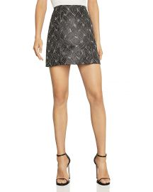 Basket-Weave Jacquard Mini Skirt at Bloomingdales