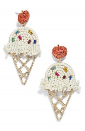BaubleBar Beaded Ice Cream Cone Earrings   Nordstrom at Nordstrom