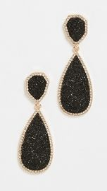 BaubleBar Moonlight Druzy Drop Earrings at Shopbop
