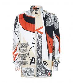 Bauhaus Print Silk Shirt by Versace at Harrods