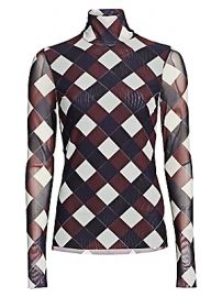Baum und Pferdgarten - Jodi Check Mesh Top at Saks Fifth Avenue