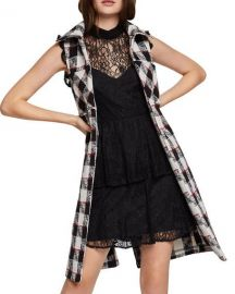 Bcbgeneration Plaid Long Vest at Bloomingdales