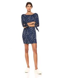 Bcbgeneration Printed Balloon Sleeve Dress at Amazon