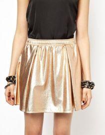 Bcbgeneration Metallic Skirt at Asos