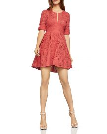 Bcbgmaxazria Eyelet fit and flare dress at Bloomingdales