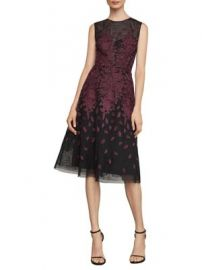 Bcbgmaxazria Floral Embroidered Evening Dress at Lord & Taylor