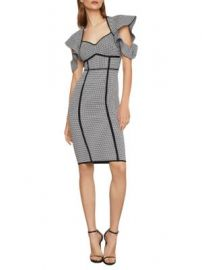 Bcbgmaxazria Houndstooth Jacquard Sheath Dress at Saks Off 5th