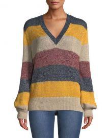 Bcbgmaxazria striped sweater at Last Call