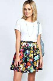 Bea Floral Skirt at Boohoo
