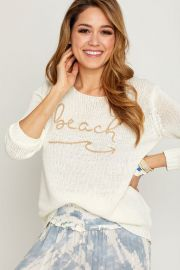 Beach Graphic Sweater by Vintage Havana at Socialthreads
