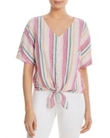 BeachLunchLounge Striped Tie-Front Shirt Women - Bloomingdale s at Bloomingdales