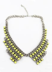 Beaded Chain Collar at She Inside