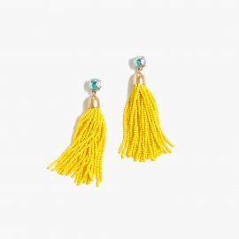 Beaded Tassel Earrings at J. Crew