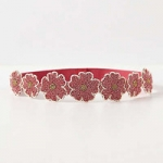 Beaded daisy belt in pink at Anthropologie at Anthropologie