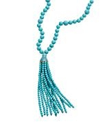 Beaded tassle necklace by Kenneth Jay Lane at Max & Chloe