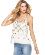 Beaded top by Guess at Macys