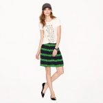 Beanstalk stripe skirt at J. Crew