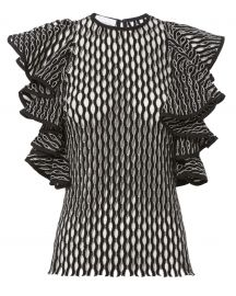 Beaufille Desina Flounce Sleeve Perforated Knit Tank at Intermix
