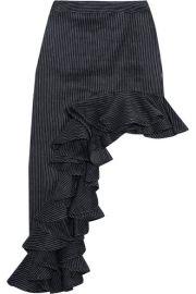 Beaufille   Ara asymmetric pinstriped linen-blend skirt at Net A Porter