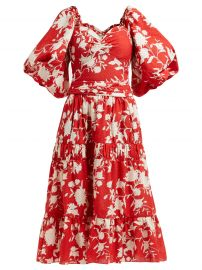 Beautiful Chaos tiered floral-print cotton dress by Johanna Ortiz at Matches