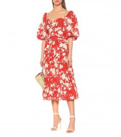 Beautiful Chaos tiered floral-print cotton dress by Johanna Ortiz at My Theresa